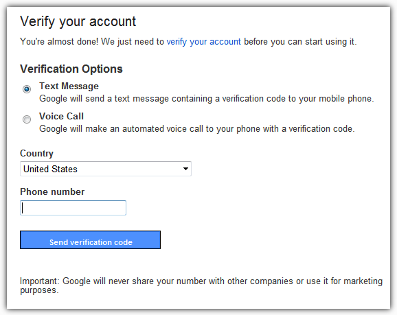 Gmail Verify Your Account