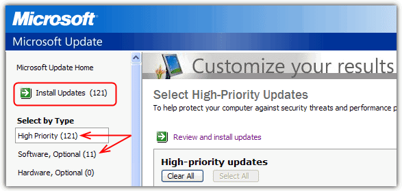 High Priority Windows Update