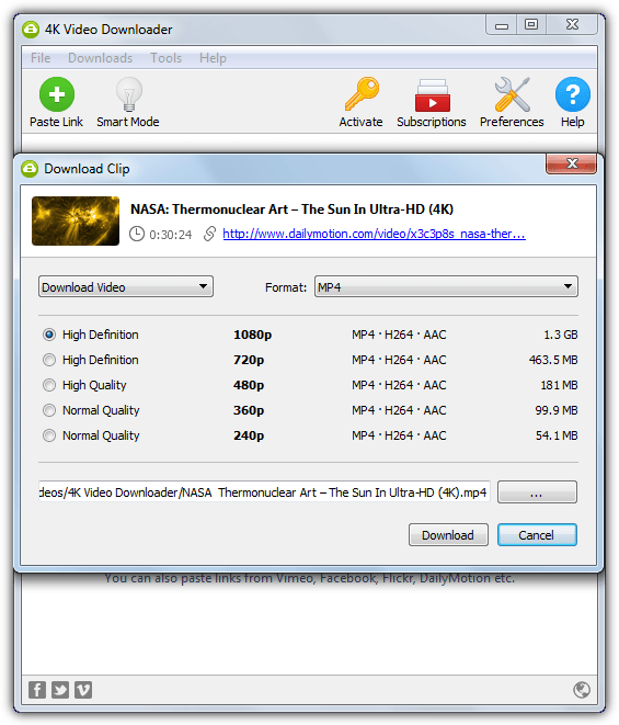 4k video downloader clip
