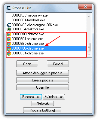 how to use cheat engine with chrome