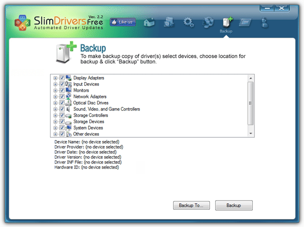 driver backup and restore software free download