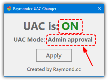 Uac changer click to change