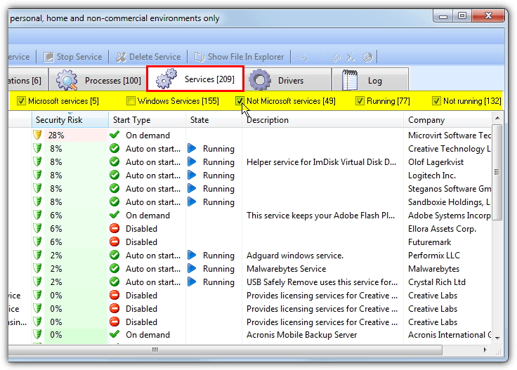 anvir task manager services window