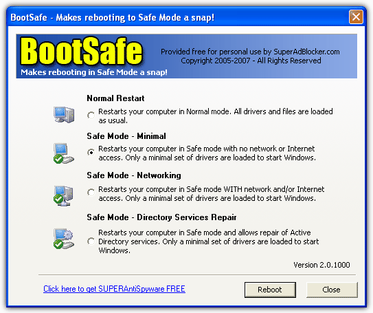 Easily Boot in to Safe Mode
