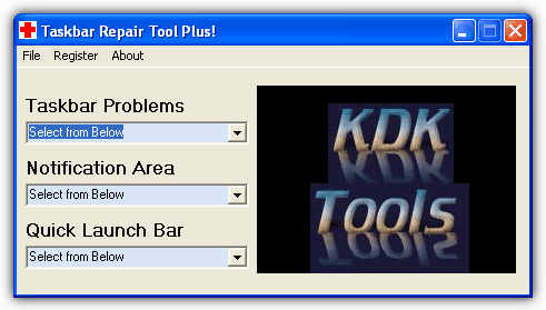 Taskbar Repair Tools Plus!