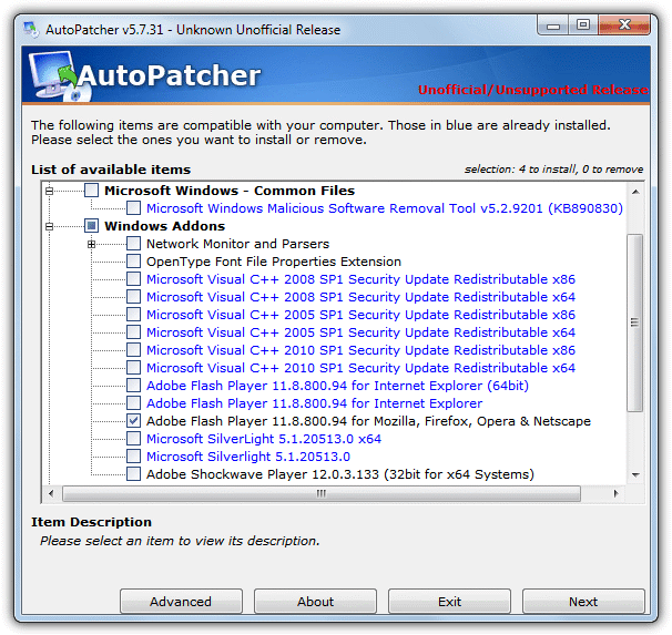 AutoPatcher Multiple Releases Packs