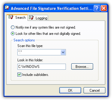 file signature verify