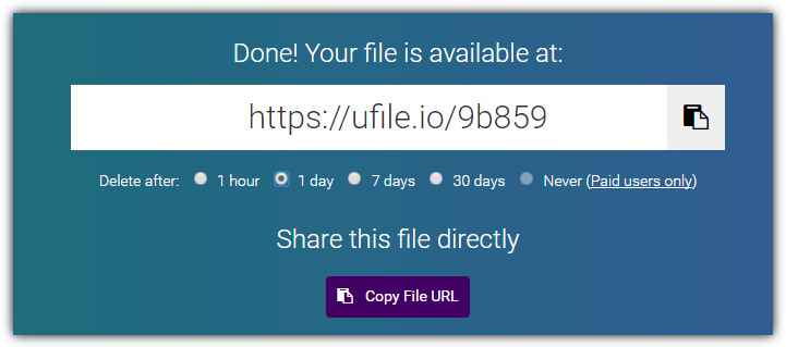 10 Free File Hosting Services with User Defined Expiring Links