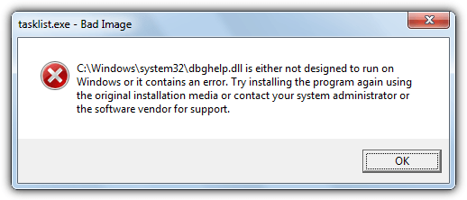DBGHelp error windows 7