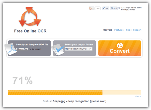 convert pdf ocr to text free online