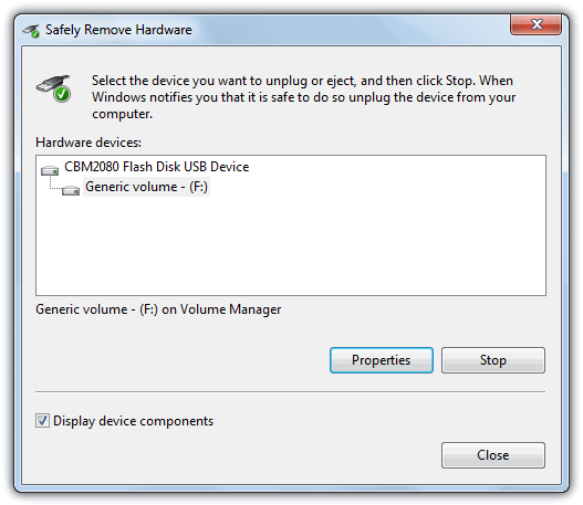Bring back safely remove hardware dialog