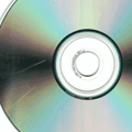 scratched cd icon