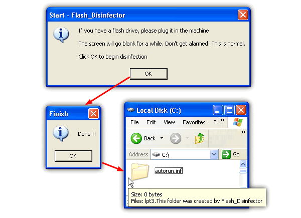 flash disinfector windows 7