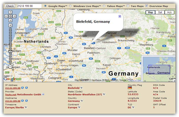 Ip Address Location Map 7 Free Services to Trace a Location From an IP Address • Raymond.CC