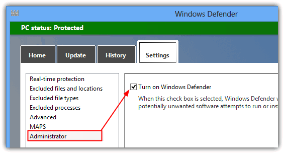 turn off windows defender 8