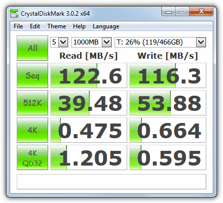 crystal disk mark benchmarking tool