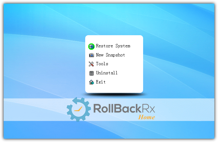 rollback rx home boot menu