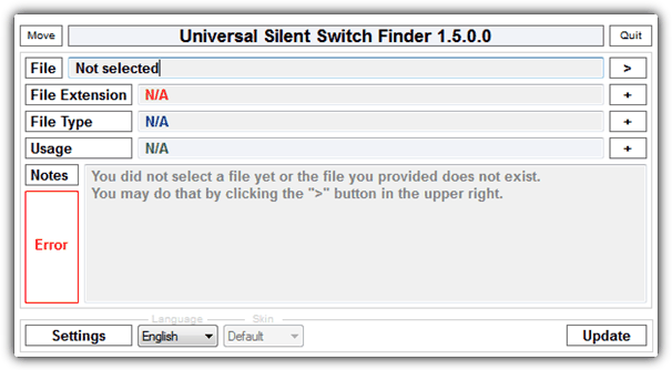 universal silent switch finder