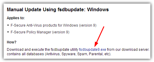 Manually Update AntiVirus Virus Definition Signatures Without