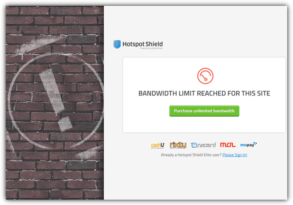 bandwidth limit reached for this site