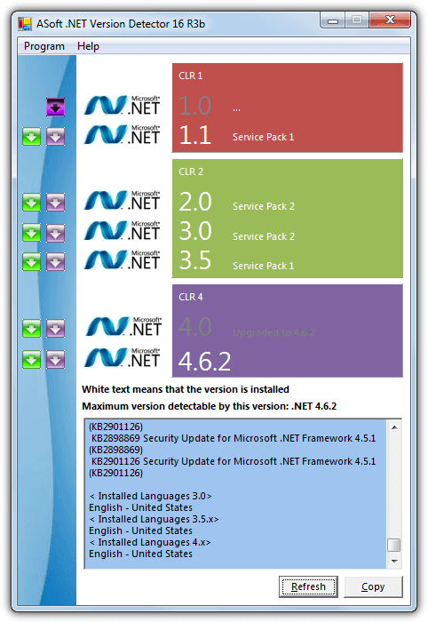 asoft net version detector