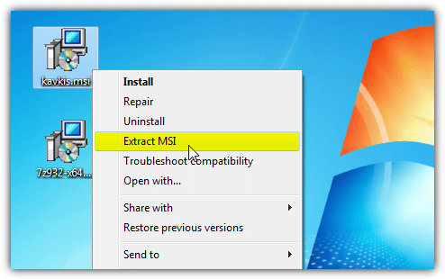 6 Ways to View and Extract Content from an MSI File • Raymond CC