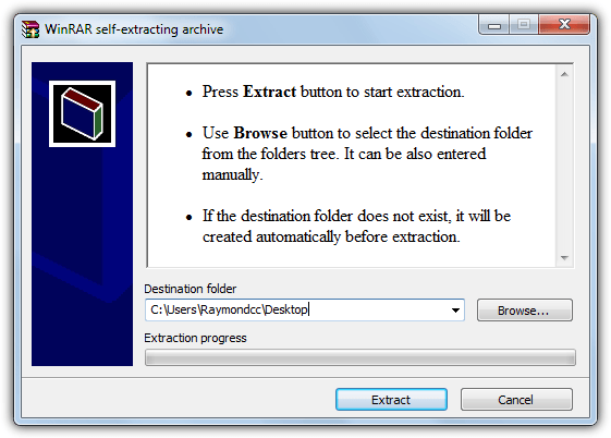 extract modern ie archive