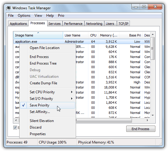 prio task manager set priority