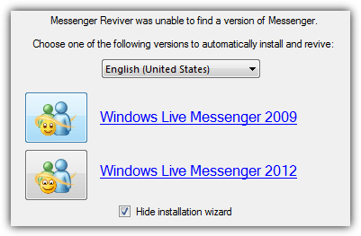 auto download and install windows live messenger