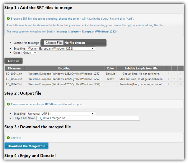 3 ways to add two or more subtitles to video raymond srt merger website ccuart Image collections