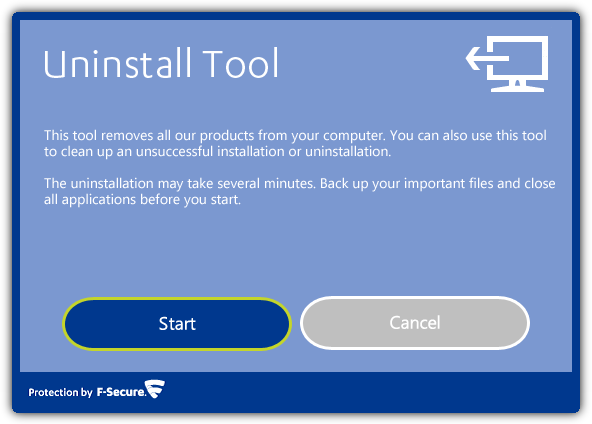 F-Secure Uninstall Tool