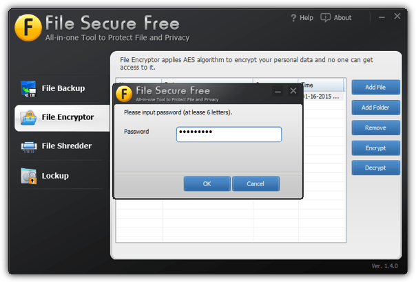 file secure free encrypt