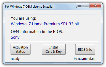 Windows 7 oem license installer