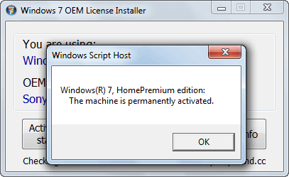 Windows 7 oem license installer activated