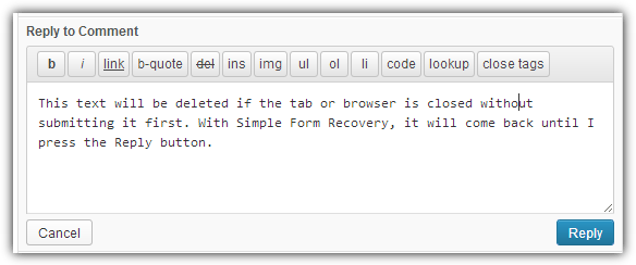 Simple Form Recovery