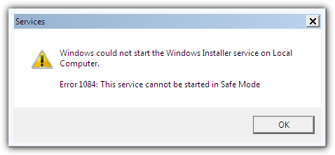 Windows could not start the Windows Installer service on Local Computer