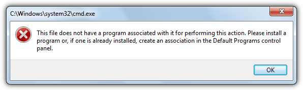 This file does not have a program associated