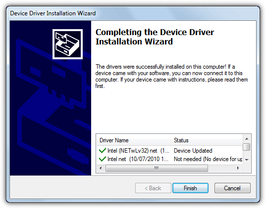 3dp net driver installed