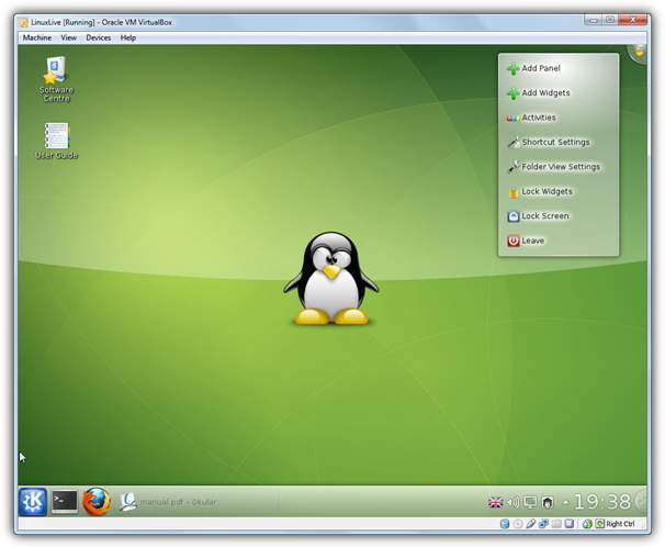 Slax Linux in USB virtualbox