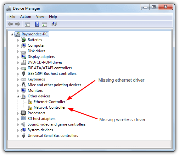 Network Adapter Driver For Windows 7 AMD