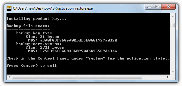 restore abr activation