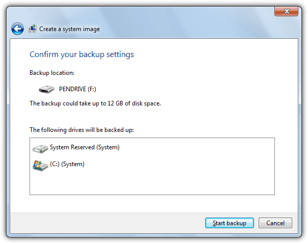 Confirm your backup settings