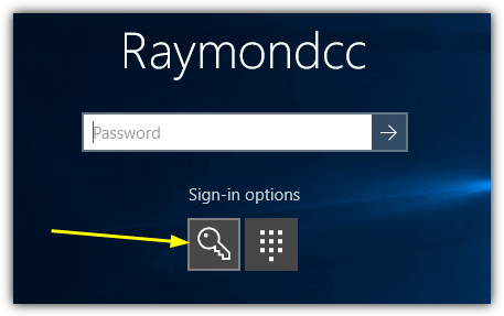 sign in with password