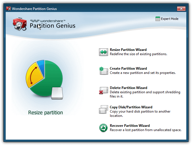 wondershare partition genius