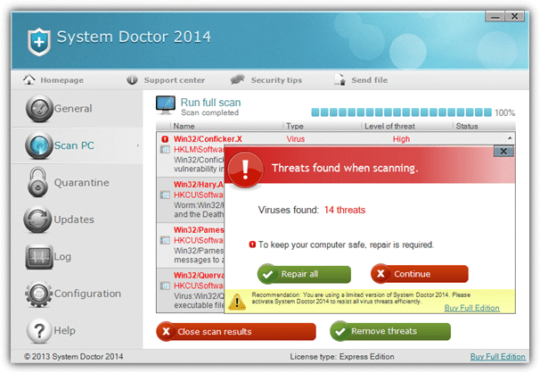system doctor fake antivirus