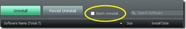 batch uninstall