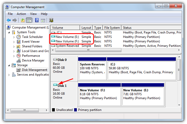 mounted vhd in disk management