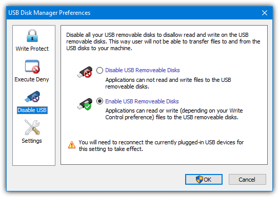Usb disk manager disable drives