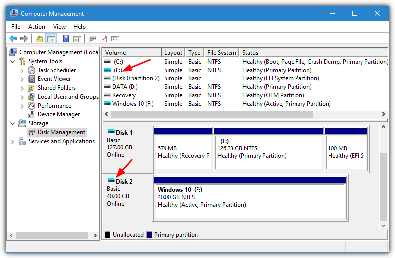 Virtual drives disk management