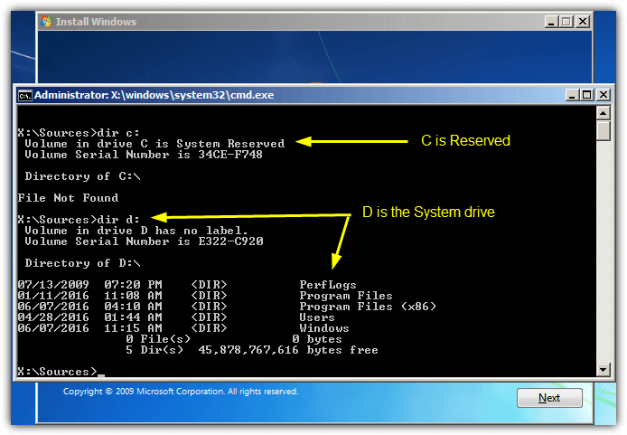 find windows drive from cmd